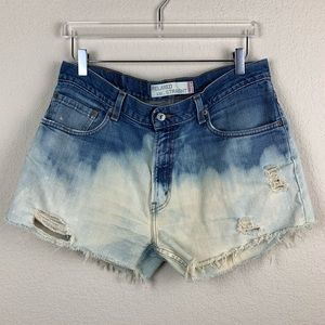 LEVIS 559 High Rise Bleached Denim Shorts Medium
